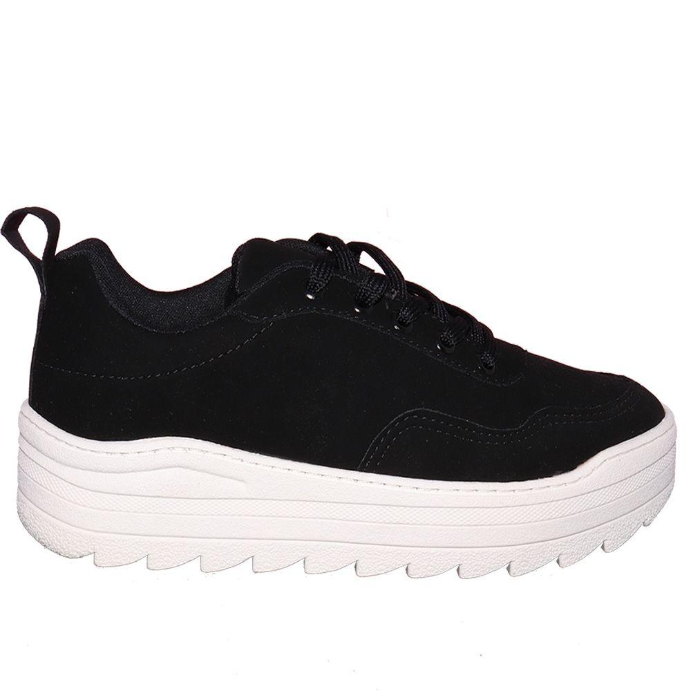 Tênis Jogging em nobuck preto.