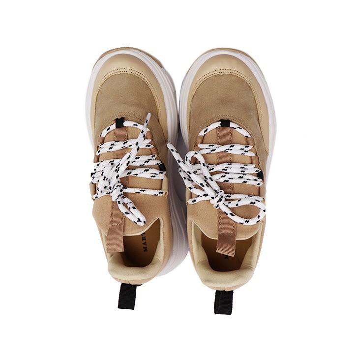 Tênis Sneaker chunky bege