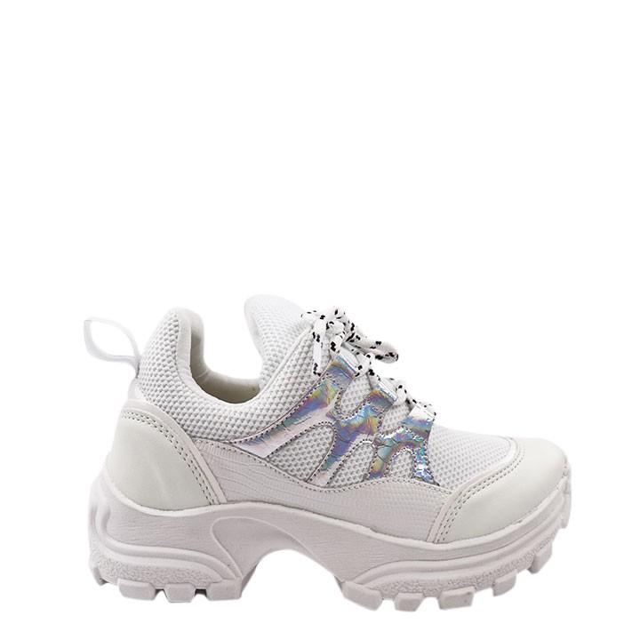 Tênis Helena Sneaker chunky holográfico
