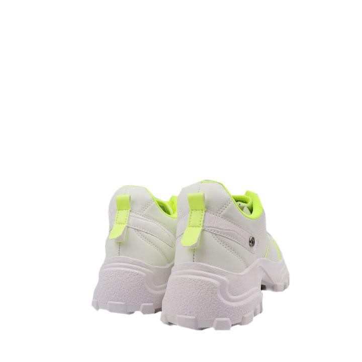 Tênis Sneaker chunky branco limão