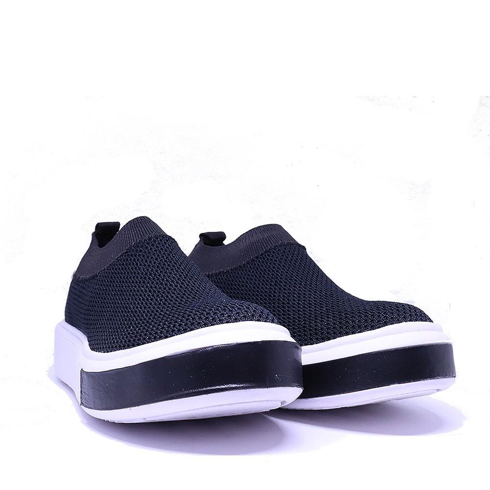 Tênis Sneaker preto Knit Trico