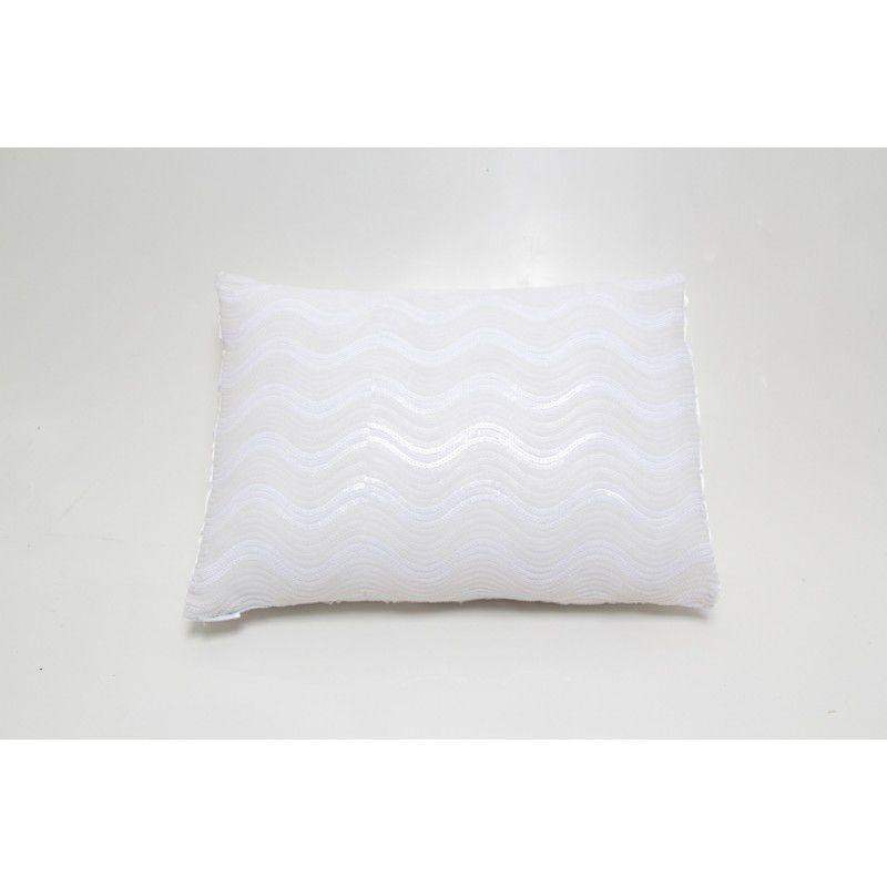 Almofada GLAMOUR paetê branco 40x50