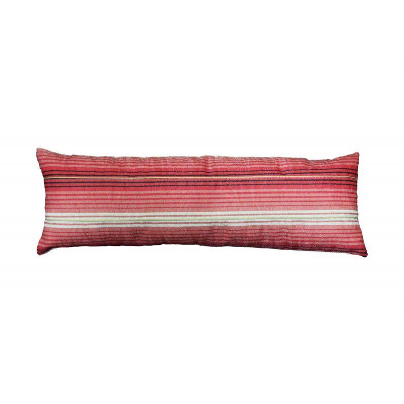 Almofada LISTRADA rineira vermelha 20x70