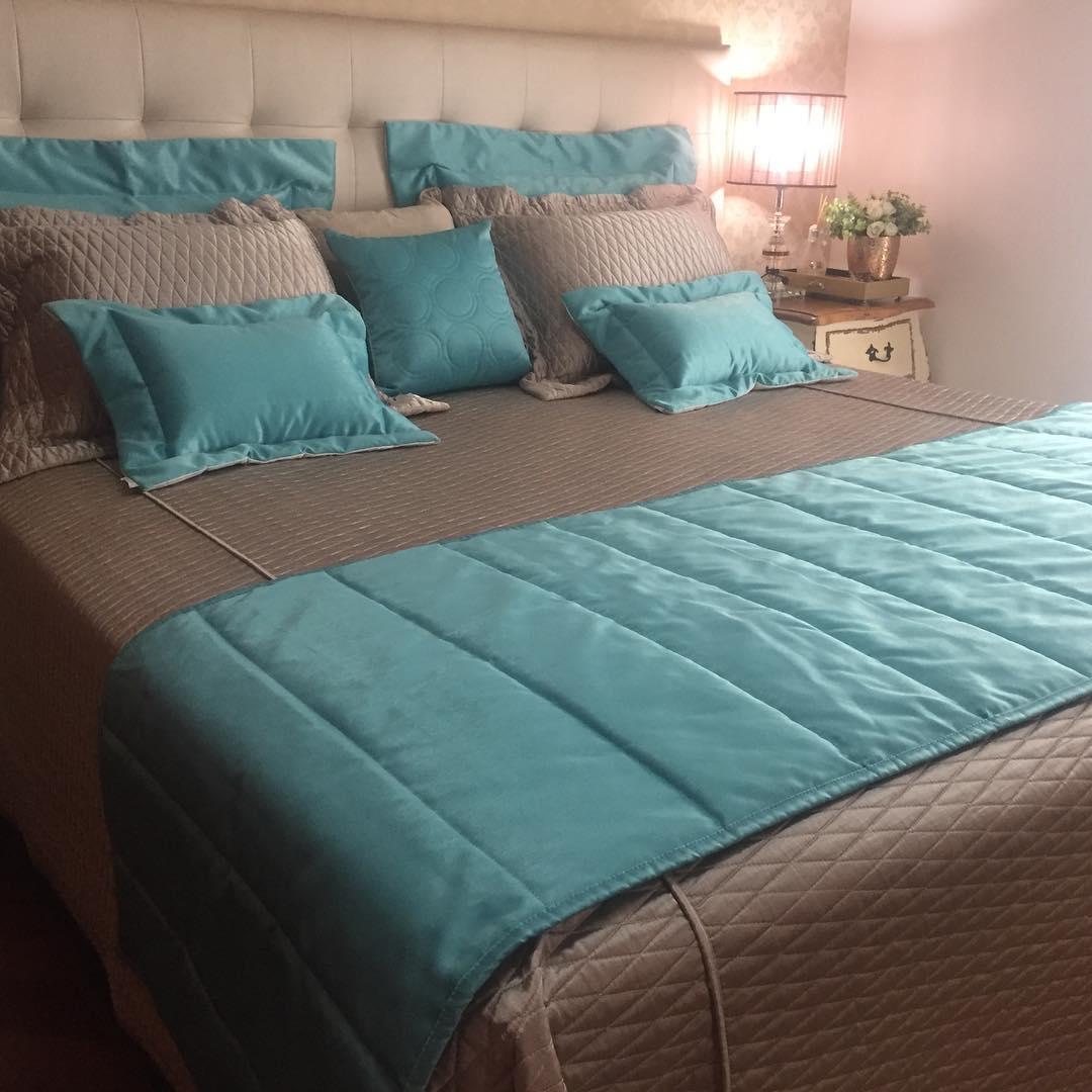Pezeira SILK Azul Tiffany 70x260