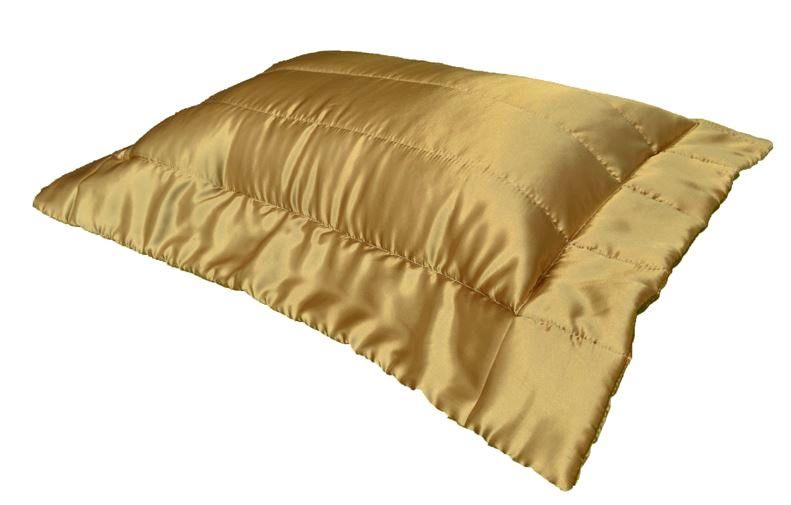 Porta Travesseiro Cetim Dourado 50x70