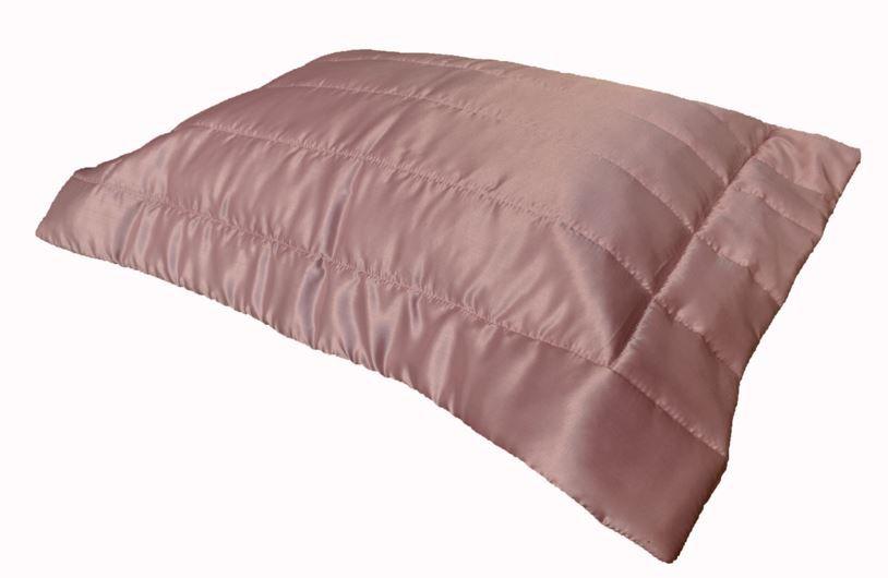 Porta Travesseiro Cetim Rosa Antigo 50x70
