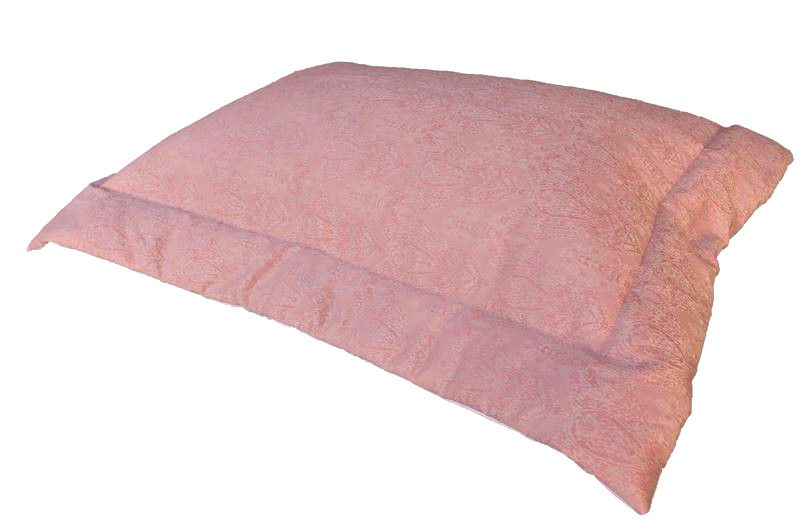 Porta Travesseiro JACQUARD FLORAL ROSA 50x70