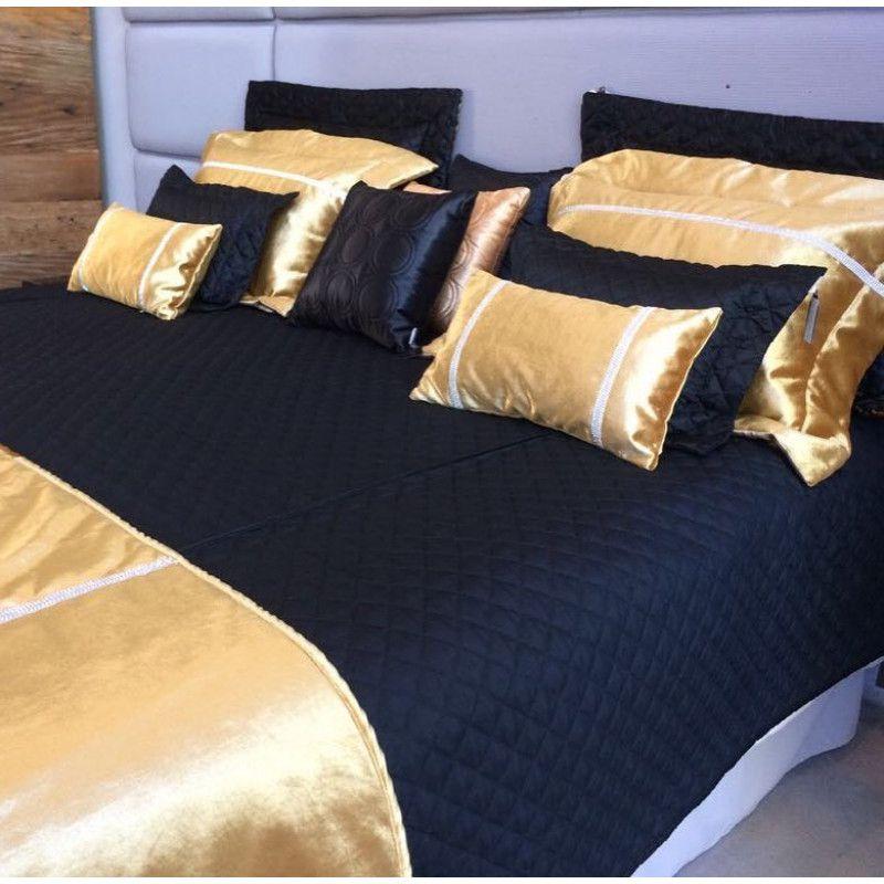 Porta Travesseiro LAS VEGAS Velvet Ouro 50x70
