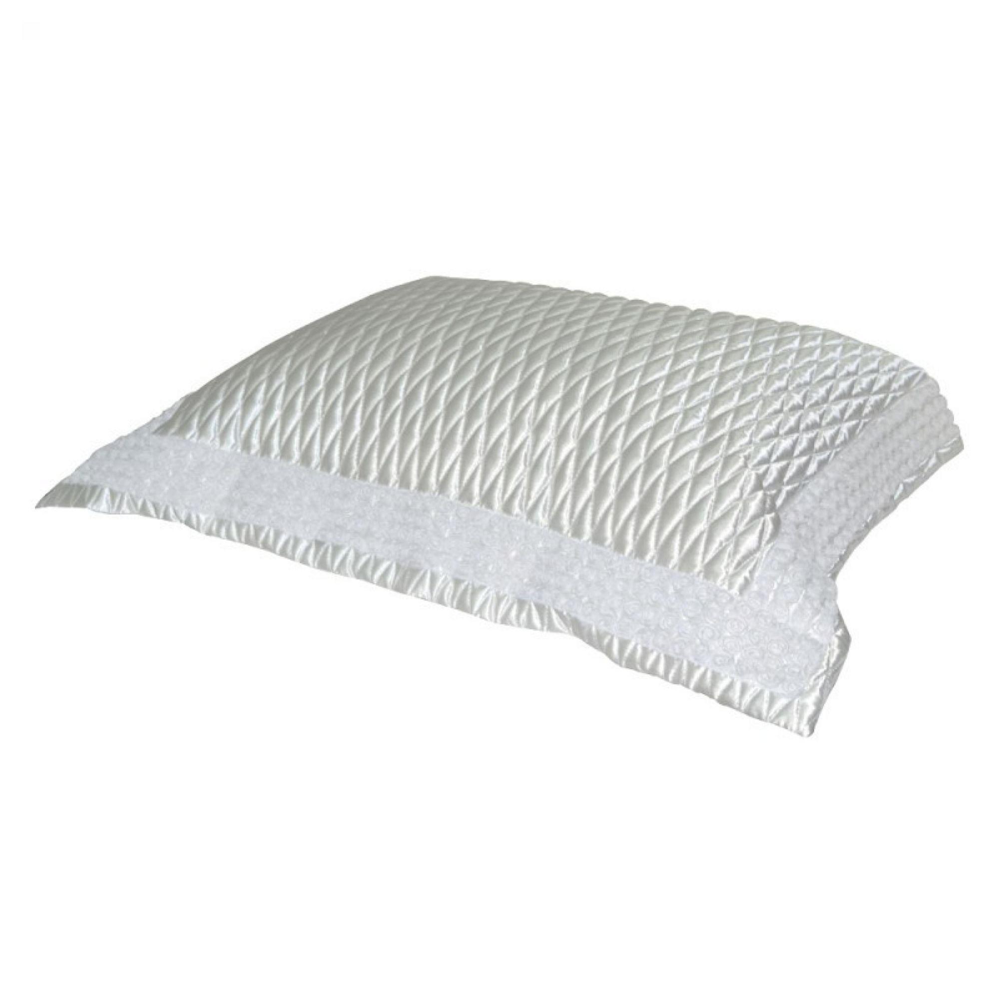 Porta Travesseiro MINI-ROSES cetim branco 50x70