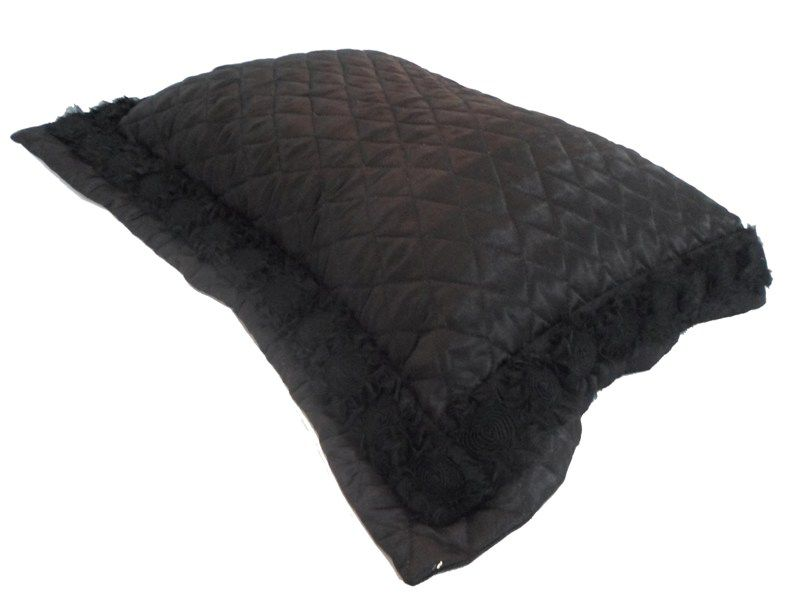 Porta Travesseiro ROSES Black Cetim 50x70