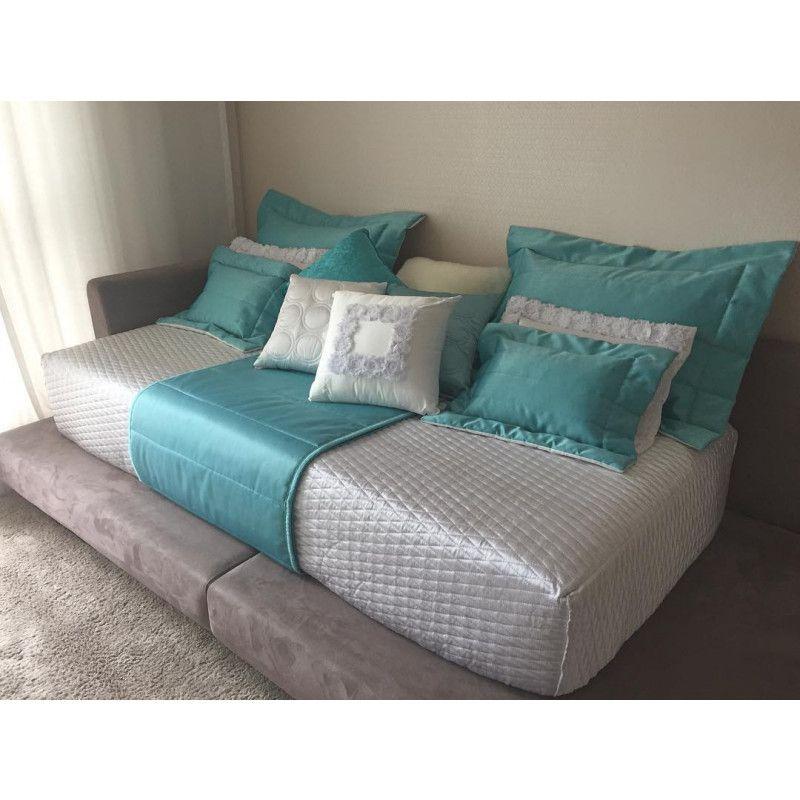 Porta Travesseiro SILK Azul Tiffany 50x70