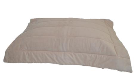 Porta travesseiro Suede aveia 50x70