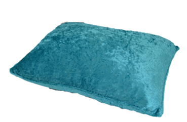 Porta Travesseiro VELUDO azul turquesa 50x70