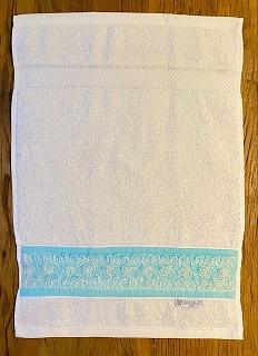 Toalha Lavabo FITA DE CÔCO azul tiffany
