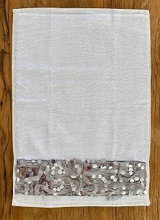 Toalha Lavabo GLAMOUR prata