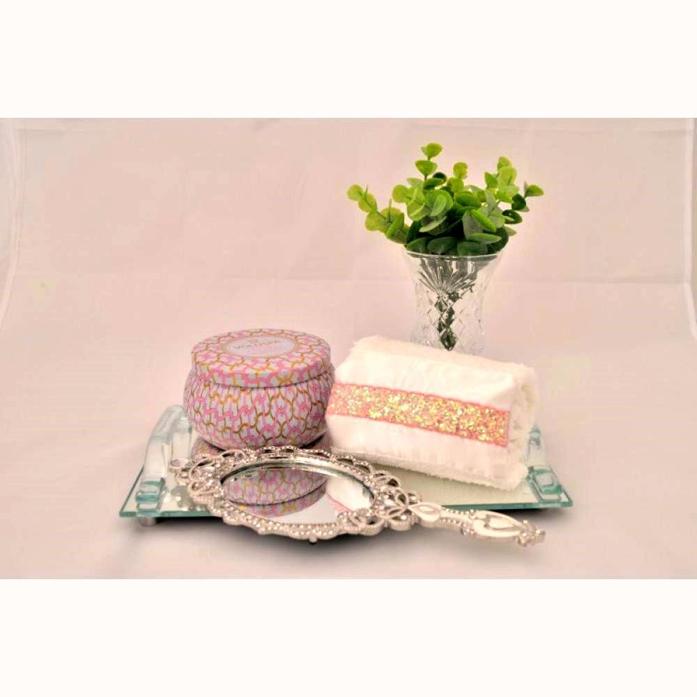 Toalha Lavabo GLITTER rosa