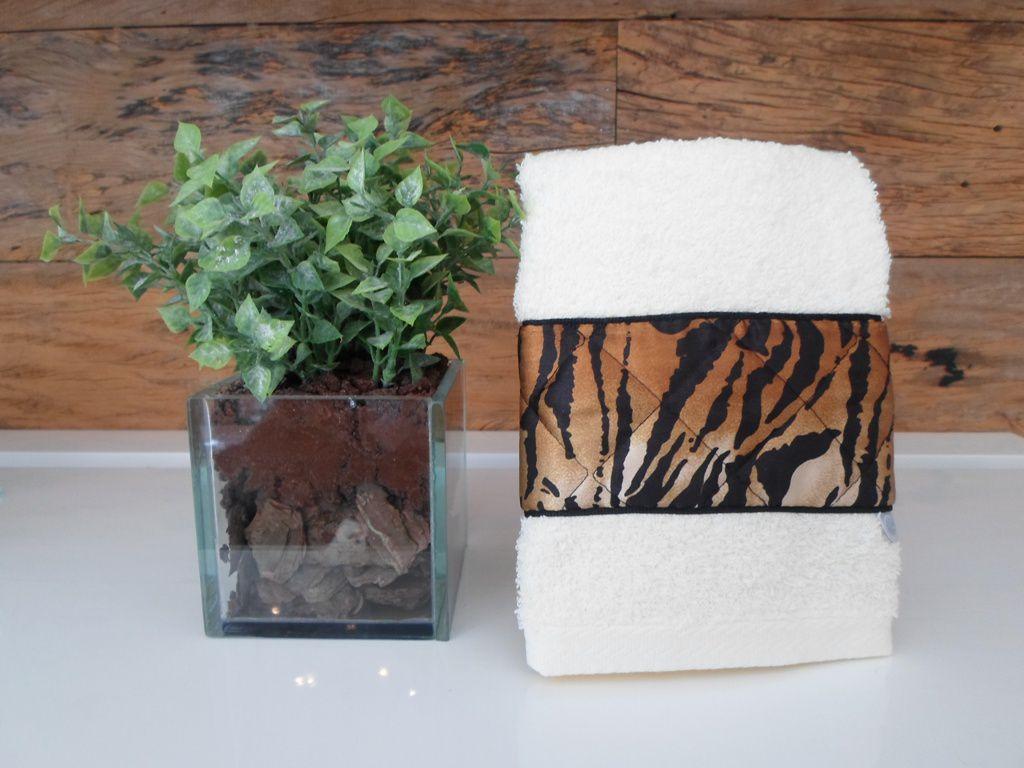 Toalha Lavabo LEOPARDO marfim
