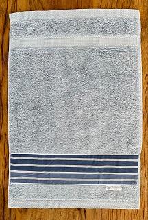 Toalha Lavabo LISTRADO marinho/azul