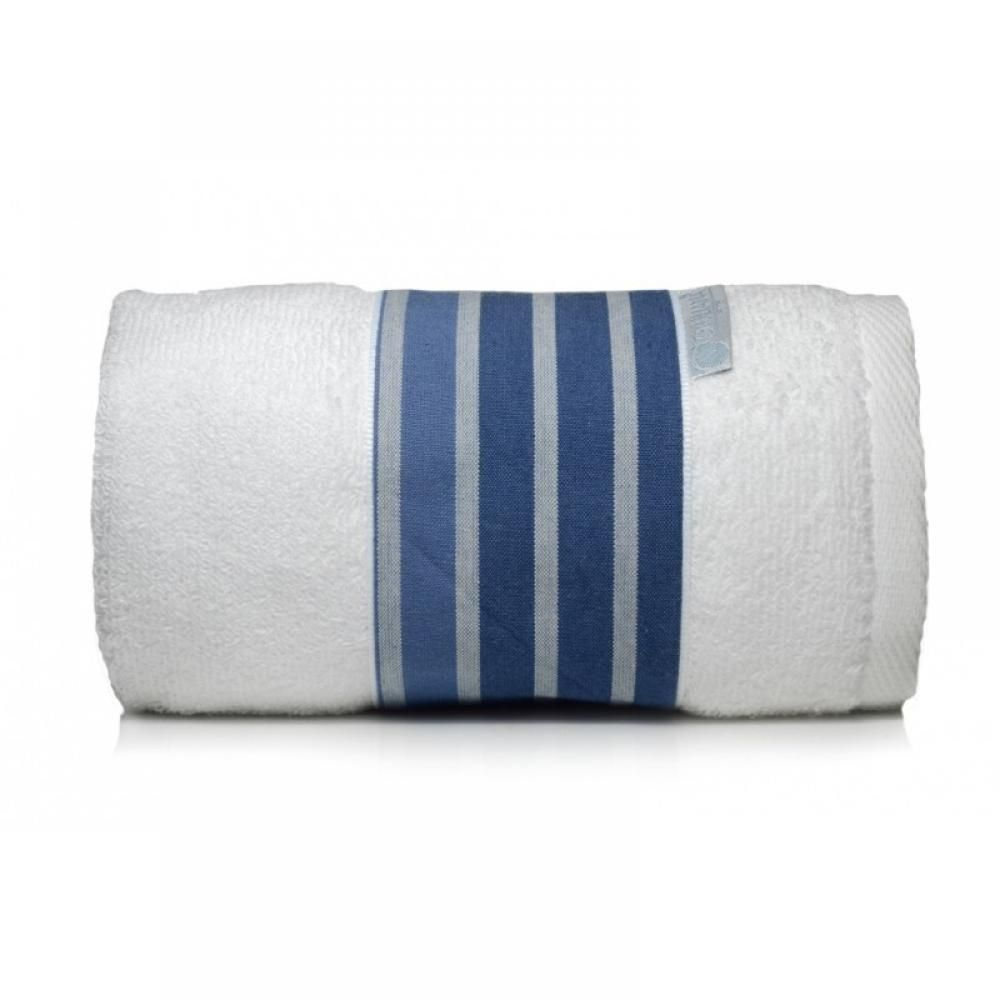 Toalha Lavabo LISTRADO marinho/branca