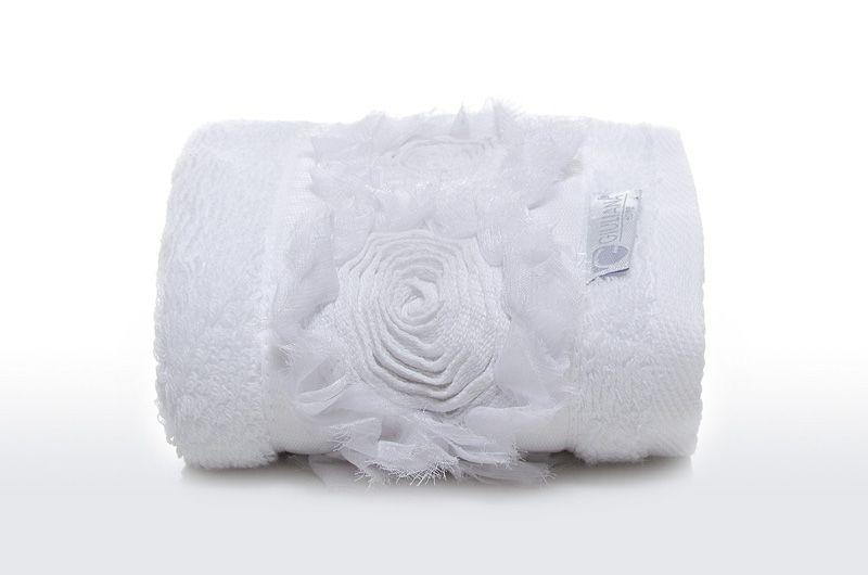 Toalha Lavabo ROSES branca