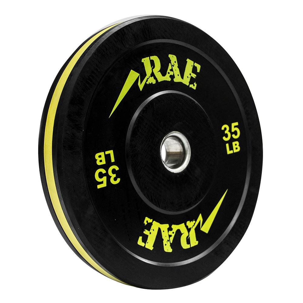 Anilha Olímpica Bumper Seminova - Rae Action 35 lb - Rae Fitness