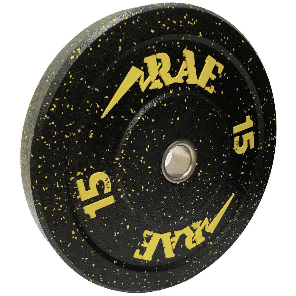 Anilha Olímpica Bumper - Hi-temp 15 kg - Rae Fitness