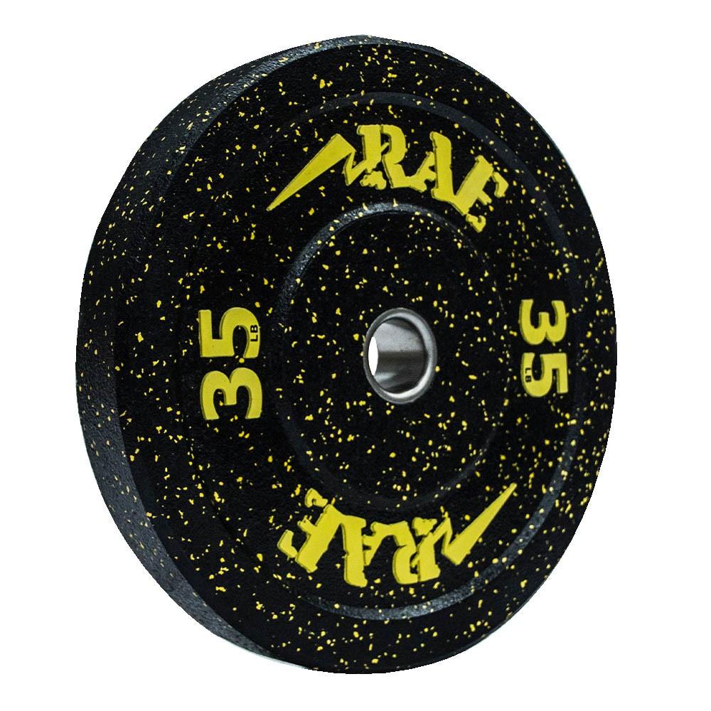 Anilha Olímpica Bumper - Hi-temp 35 lb - Rae Fitness