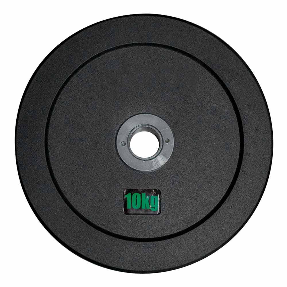 Anilha Olímpica Emborracha Bumper - Rae Black 10 kg - Rae Fitness