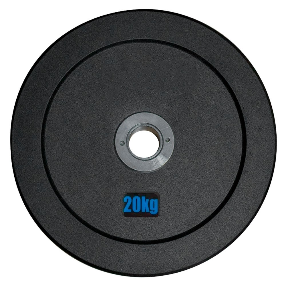 Anilha Olímpica Emborracha Bumper - Rae Black 20 kg - Rae Fitness