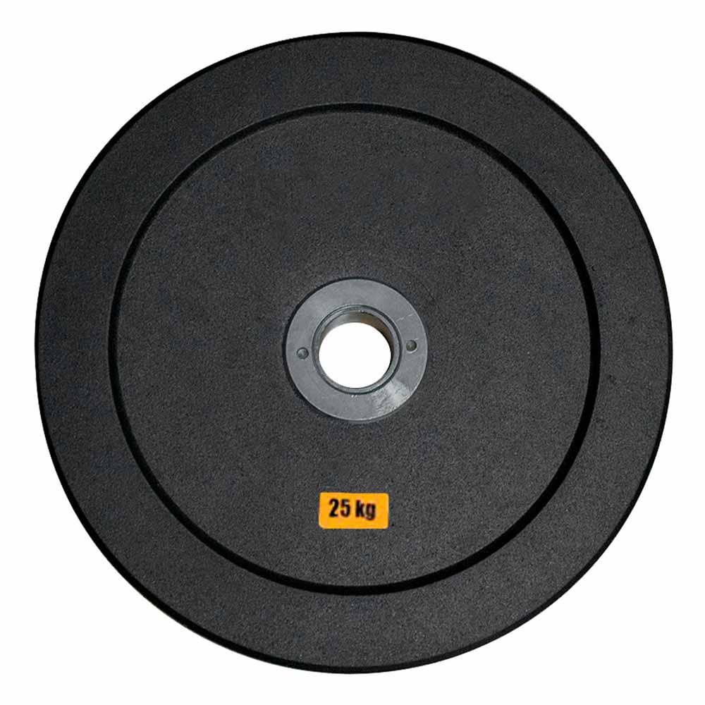 Anilha Olímpica Emborracha Bumper - Rae Black 25 kg - Rae Fitness