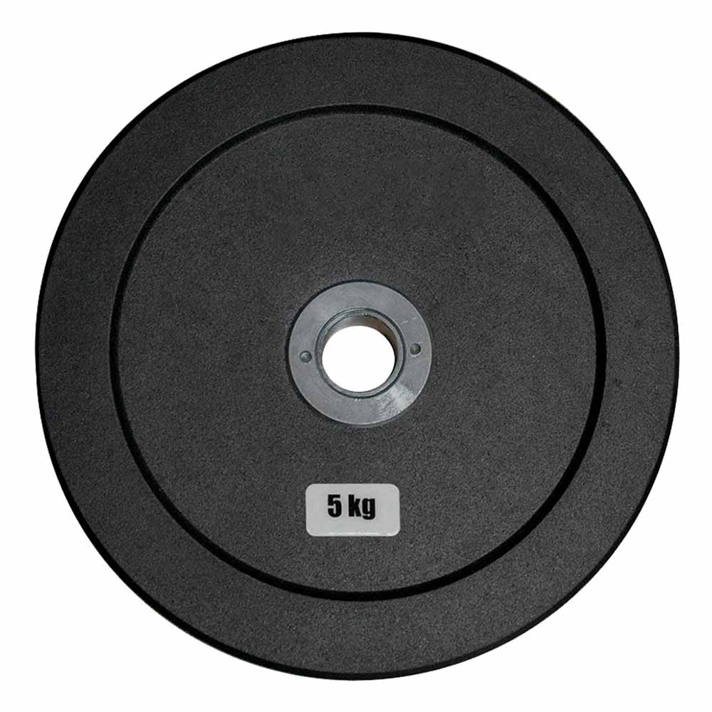Anilha Olímpica Emborracha Bumper - Rae Black  5 kg - Rae Fitness