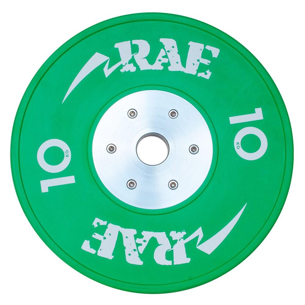 Anilha Olímpica Emborracha Colorida Bumper de Competição - Competition 10 kg - Rae Fitness