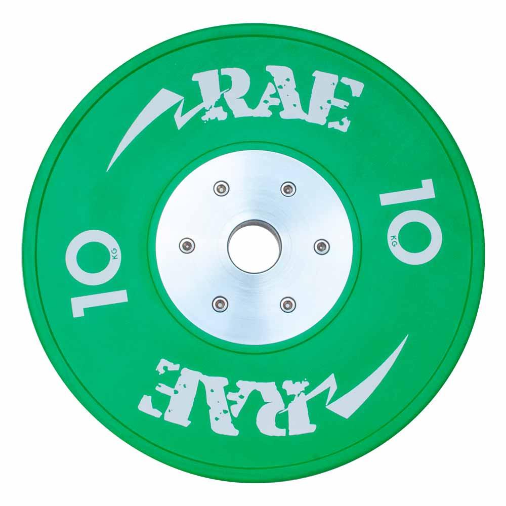 Anilha Olímpica Emborrachada Colorida Bumper de Competição - Competition 10 kg - Rae Fitness