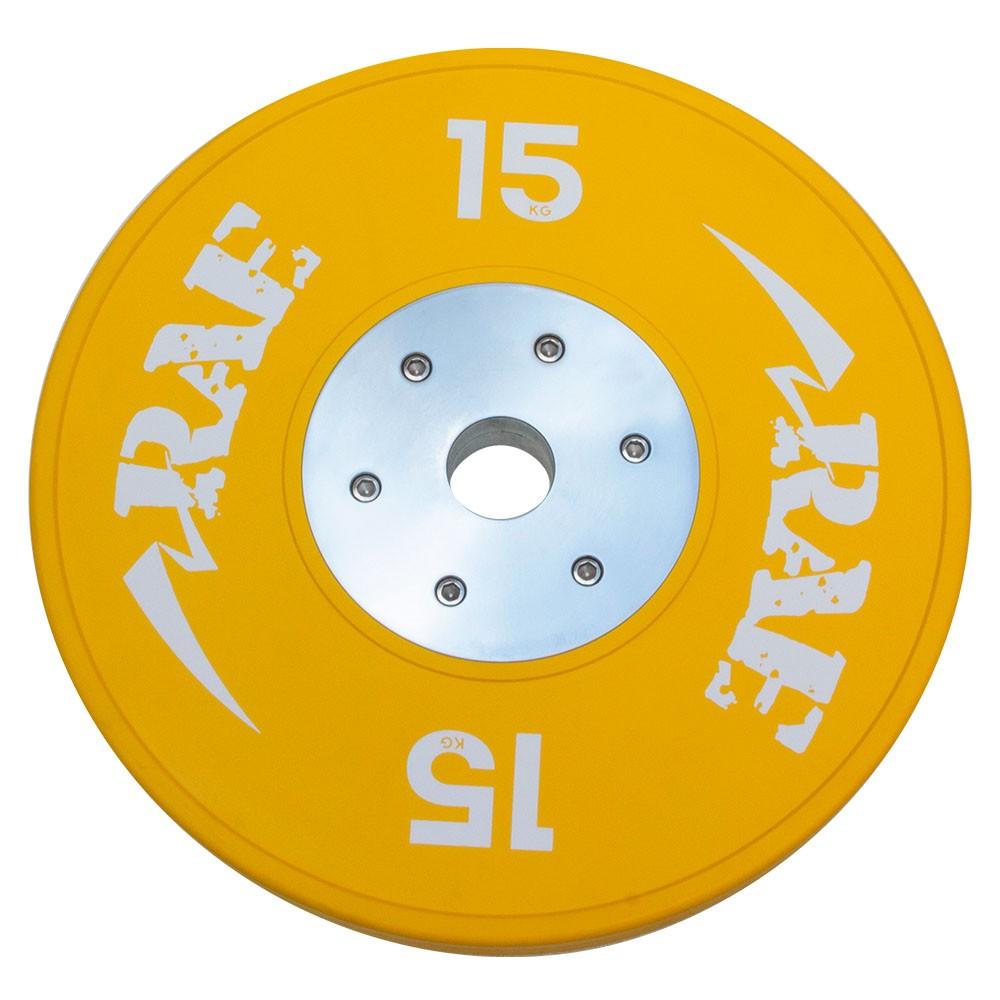 Anilha Olímpica Emborracha Colorida Bumper de Competição - Competition 15 kg - Rae Fitness