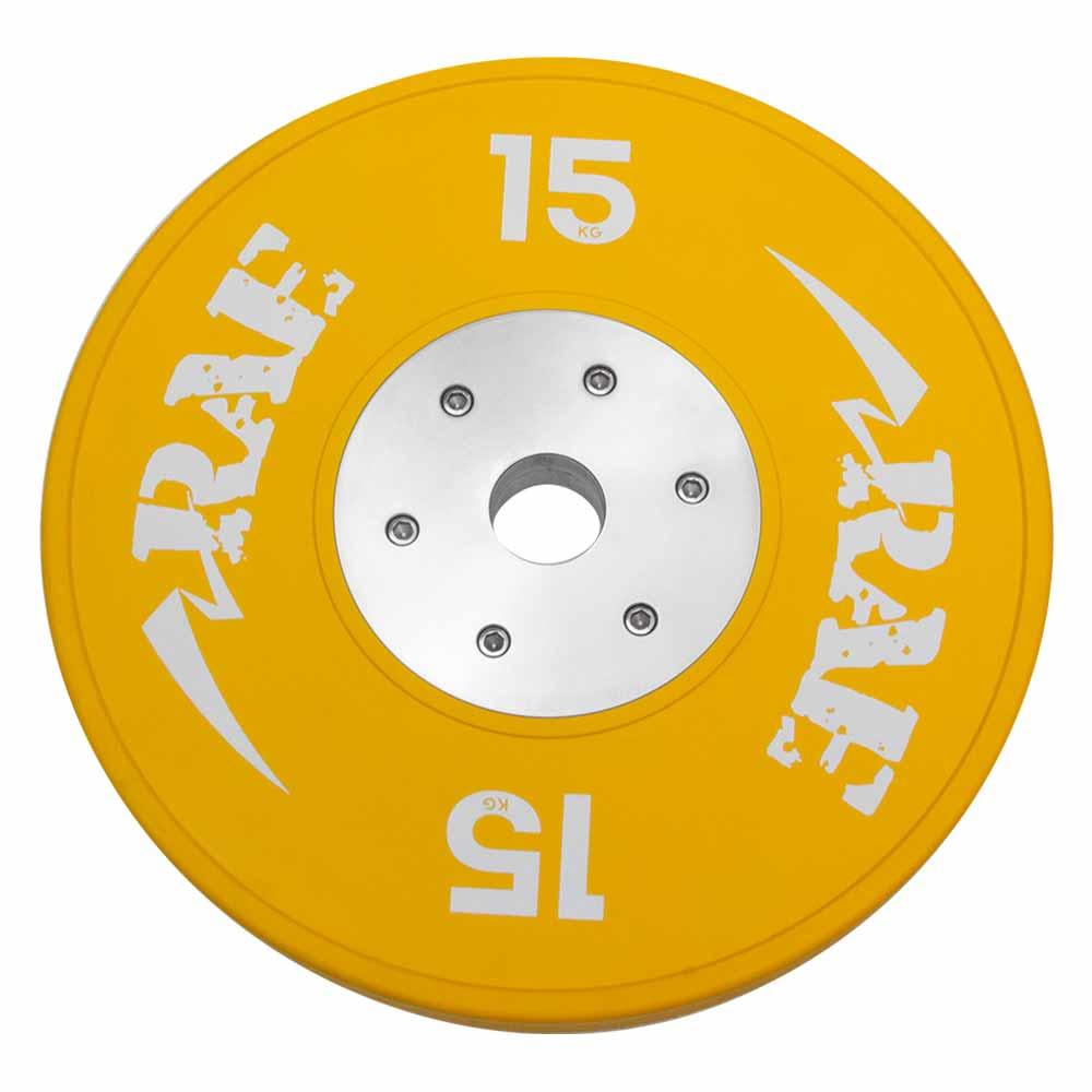 Anilha Olímpica Emborrachada Colorida Bumper de Competição - Competition 15 kg - Rae Fitness