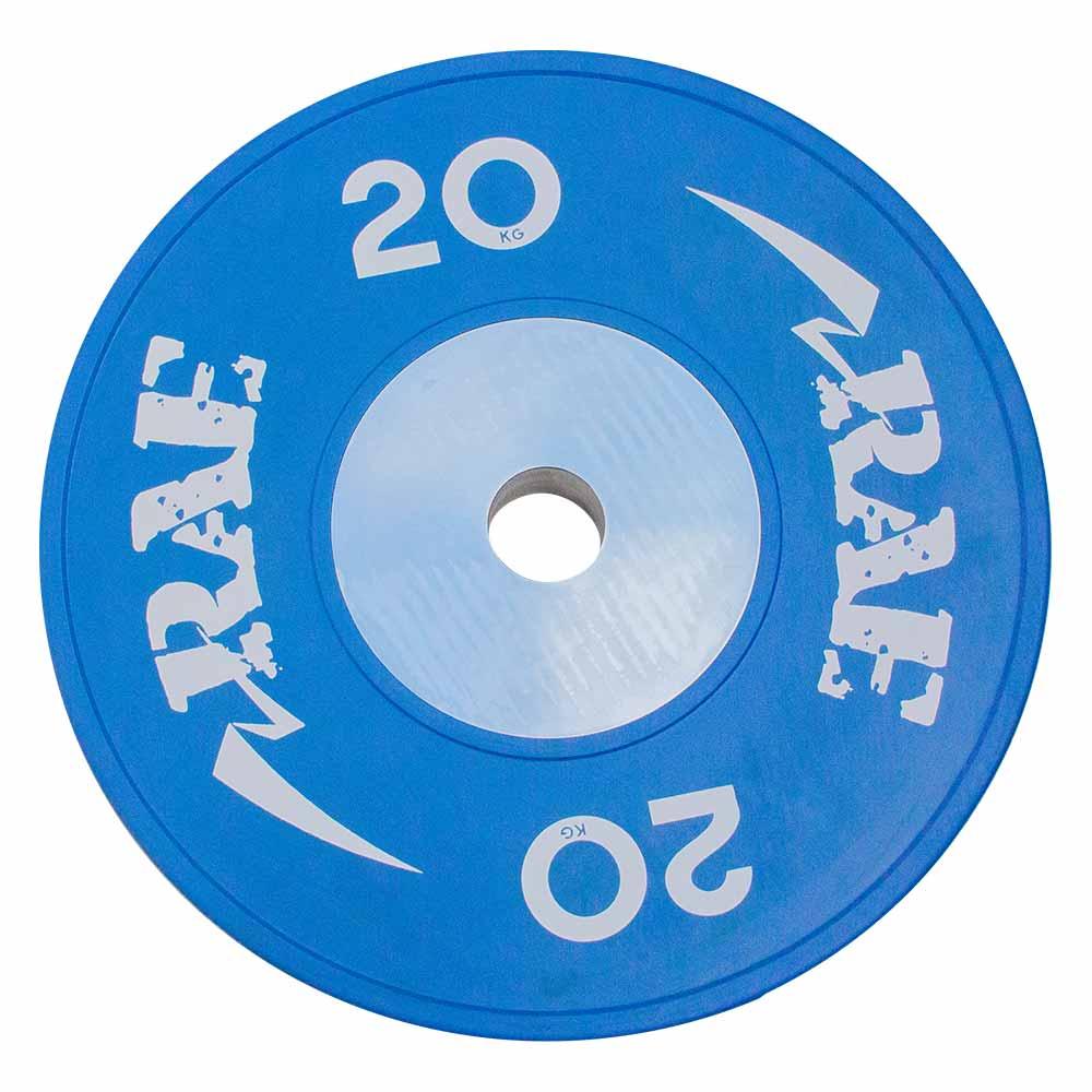 Anilha Olímpica Emborrachada Colorida Bumper de Competição - Competition 20 kg - Rae Fitness