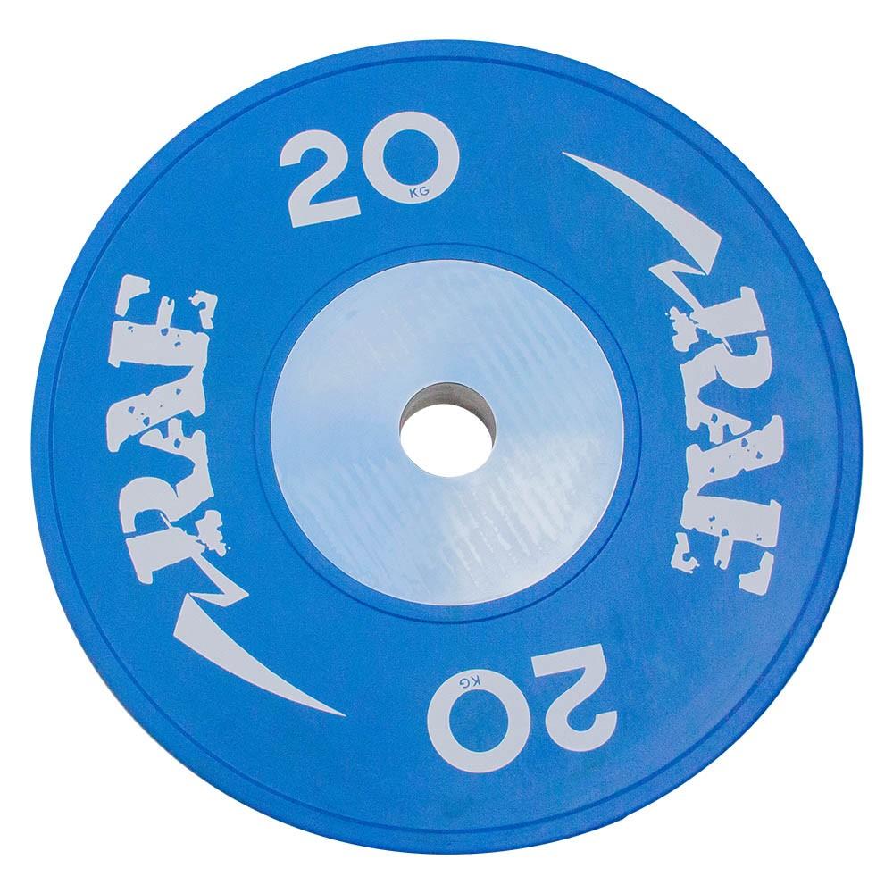 Anilha Olímpica Emborracha Colorida Bumper de Competição - Competition 20 kg - Rae Fitness