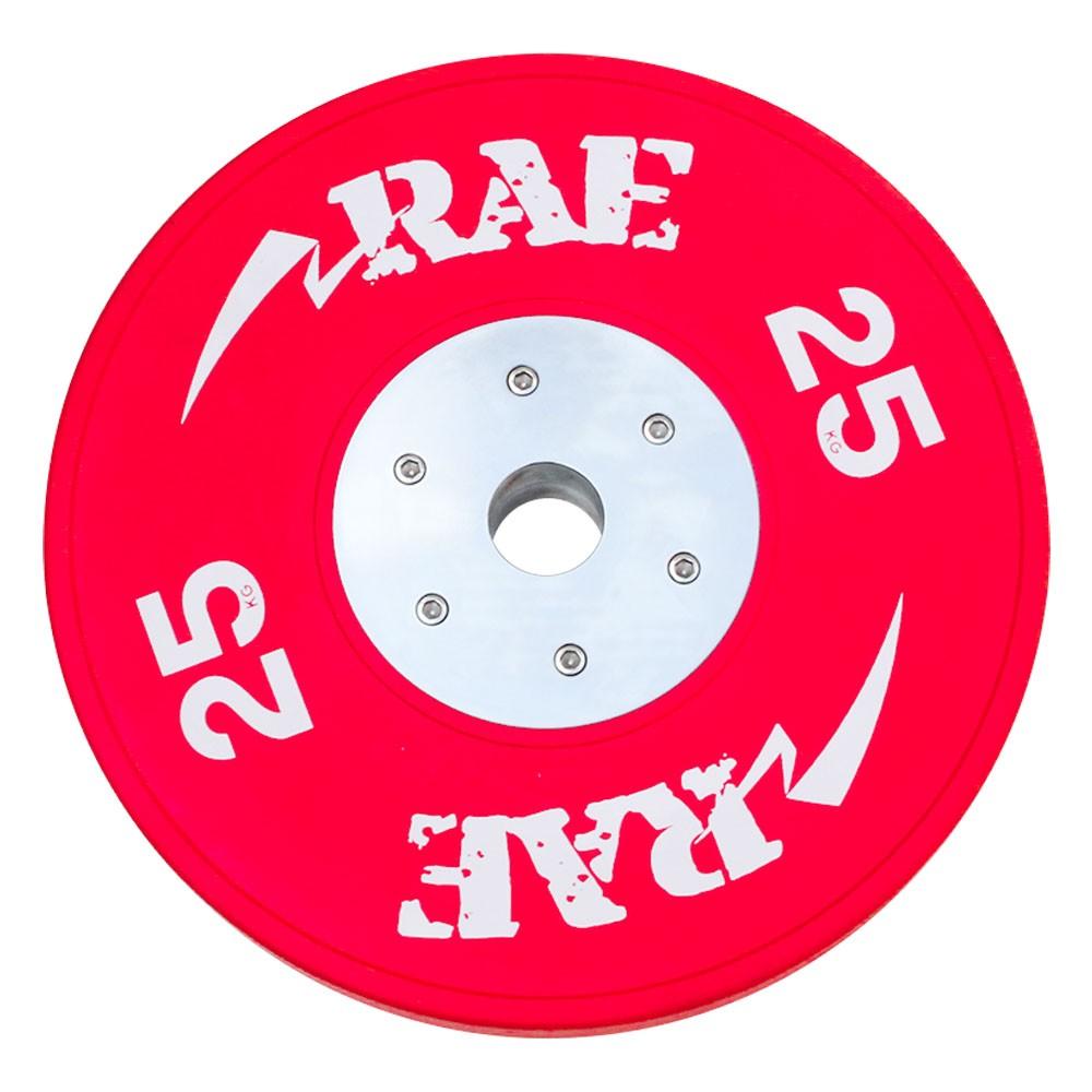 Anilha Olímpica Emborracha Colorida Bumper de Competição - Competition 25 kg - Rae Fitness