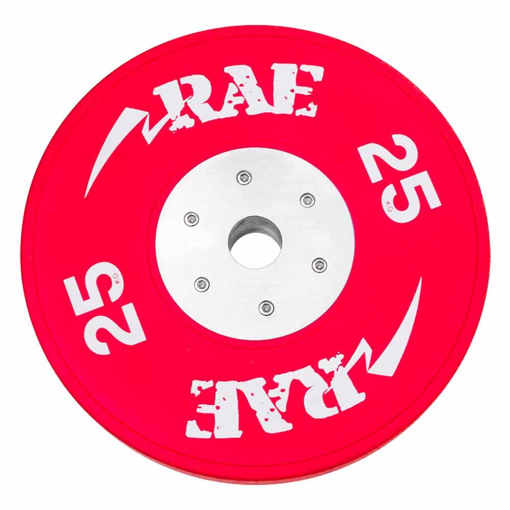 Anilha Olímpica Emborrachada Colorida Bumper de Competição - Competition 25 kg - Rae Fitness