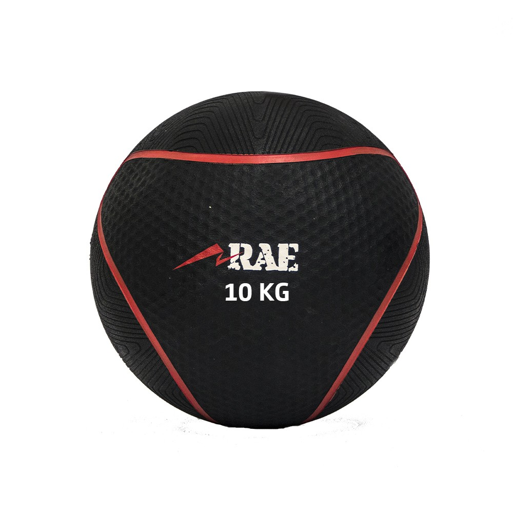 Bola Emborrachada para Treinamento Funcional - Medicine Ball 10 kg - Rae Fitness