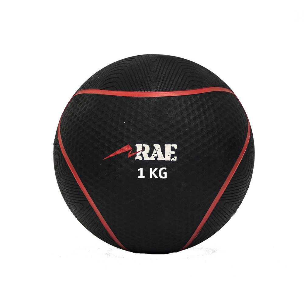 Bola Emborrachada para Treinamento Funcional - Medicine Ball   1 kg - Rae Fitness