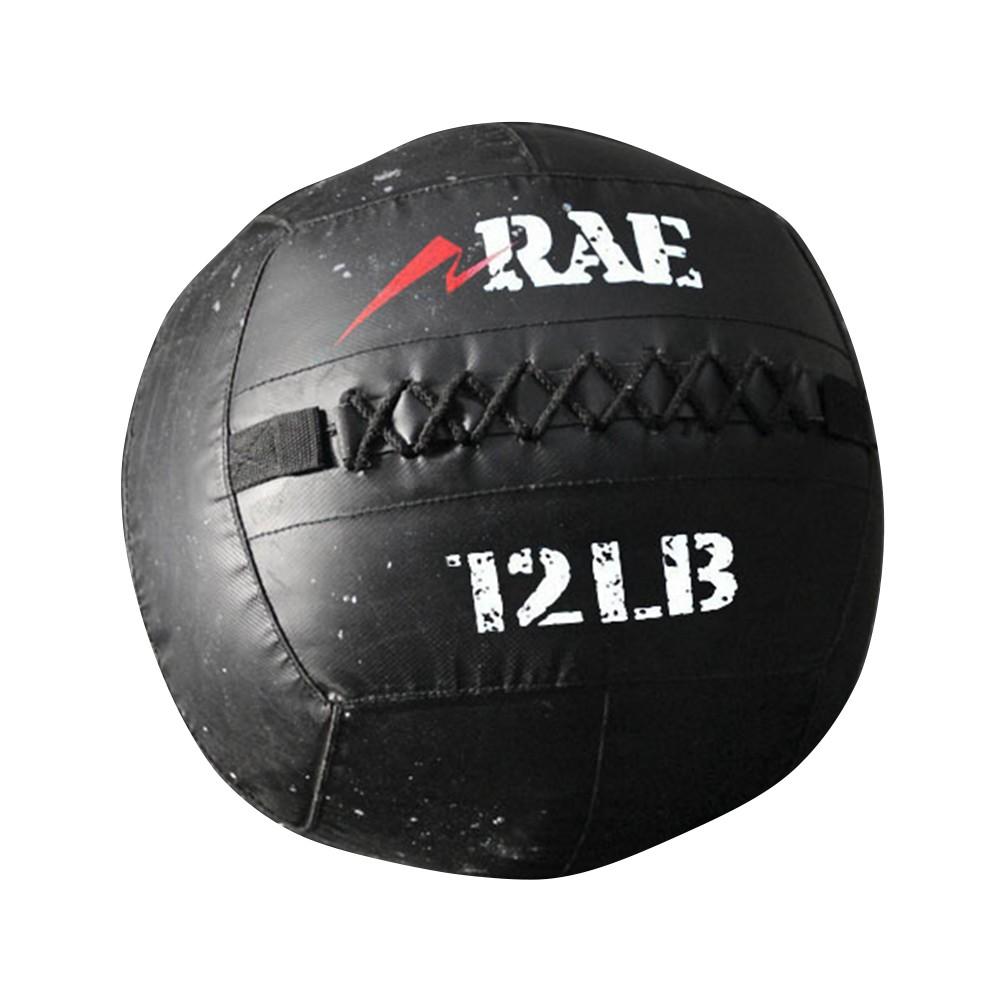 Bola para Treinamento Funcional - Med Ball - Wall Ball de Couro Reforçado 12 lb - Rae Fitness