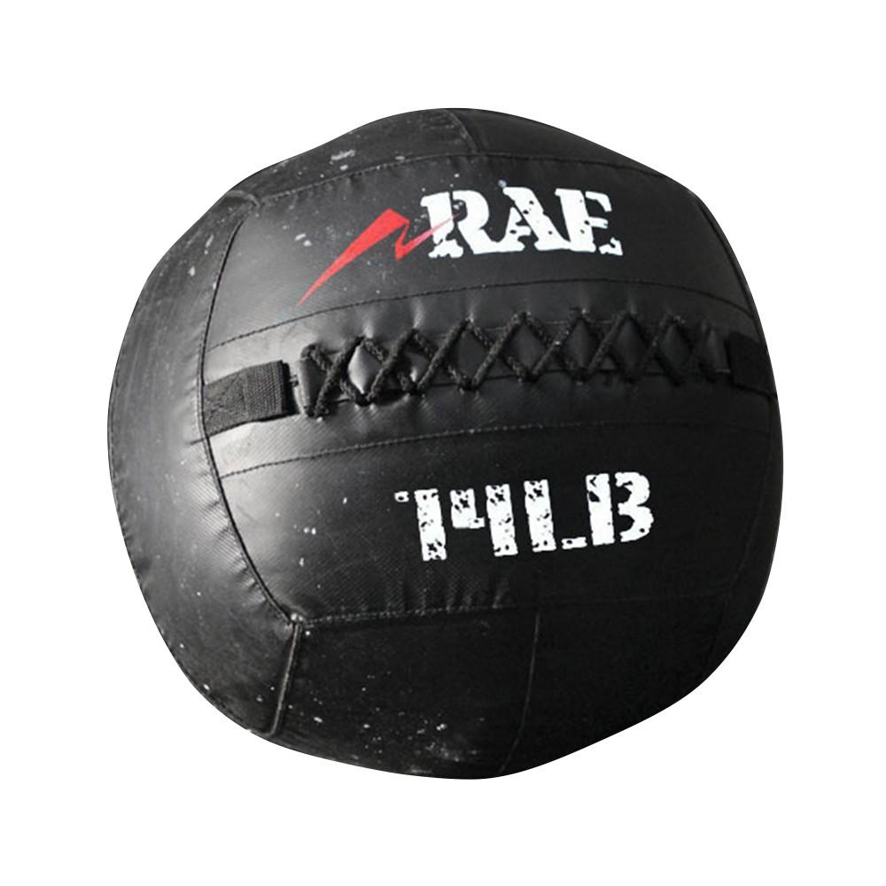 Bola para Treinamento Funcional - Med Ball - Wall Ball de Couro Reforçado 14 lb - Rae Fitness