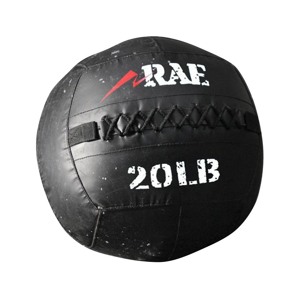 Bola para Treinamento Funcional - Med Ball - Wall Ball de Couro Reforçado 20 lb - Rae Fitness