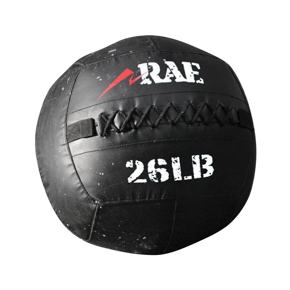Bola para Treinamento Funcional - Med Ball - Wall Ball de Couro Reforçado 26 lb - Rae Fitness