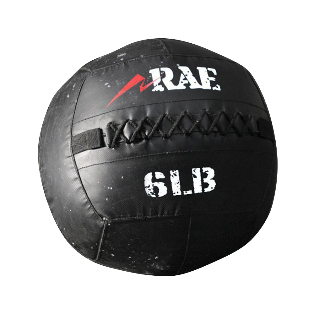 Bola para Treinamento Funcional - Med Ball - Wall Ball de Couro Reforçado  6 lb - Rae Fitness