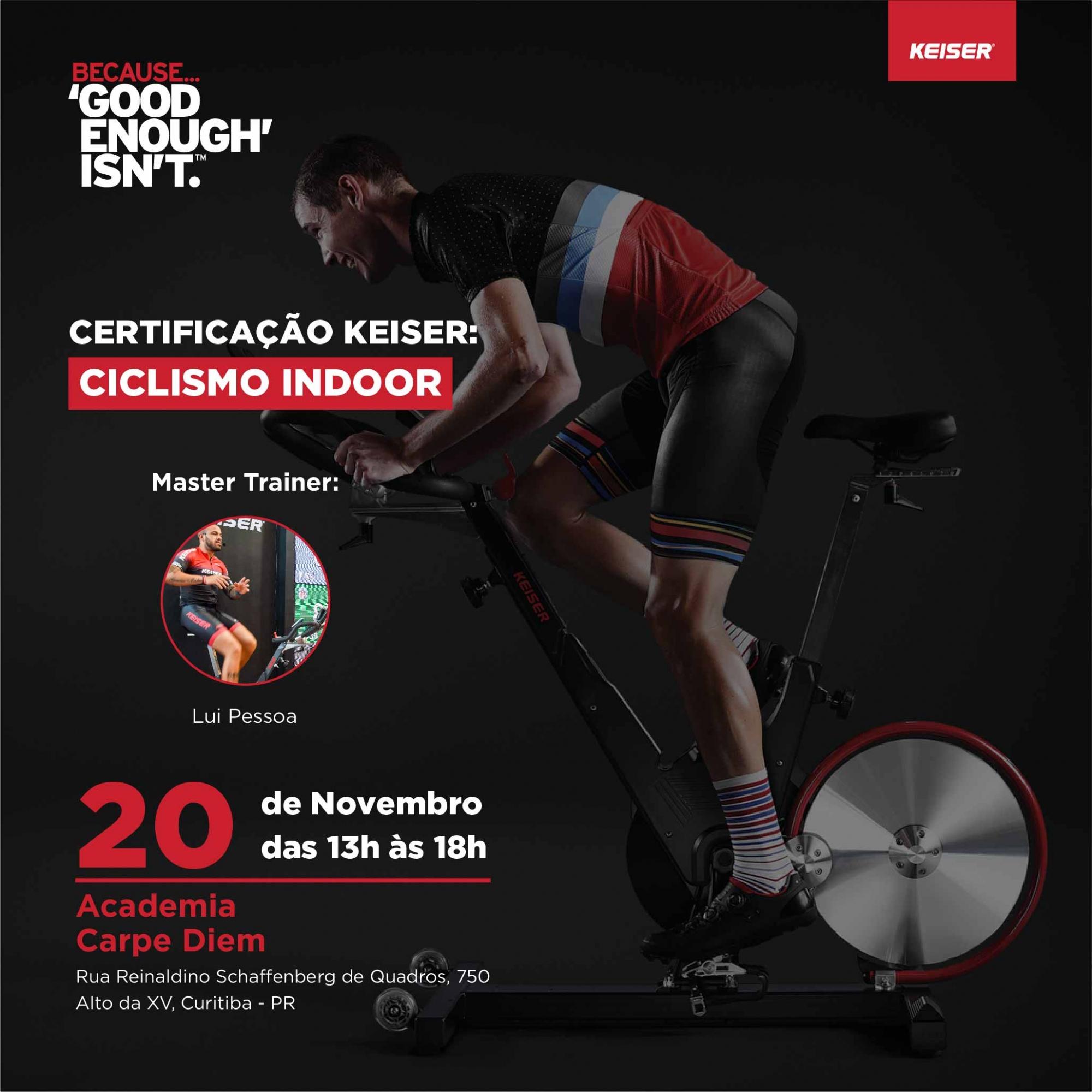 Certificação Keiser - Ciclismo Indoor