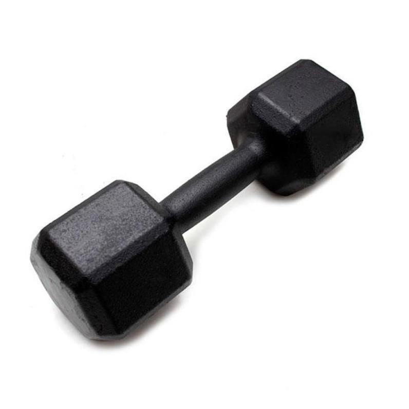 Dumbbell - Halter Sextavado de Ferro Polido 17,5 kg - Rae Fitness