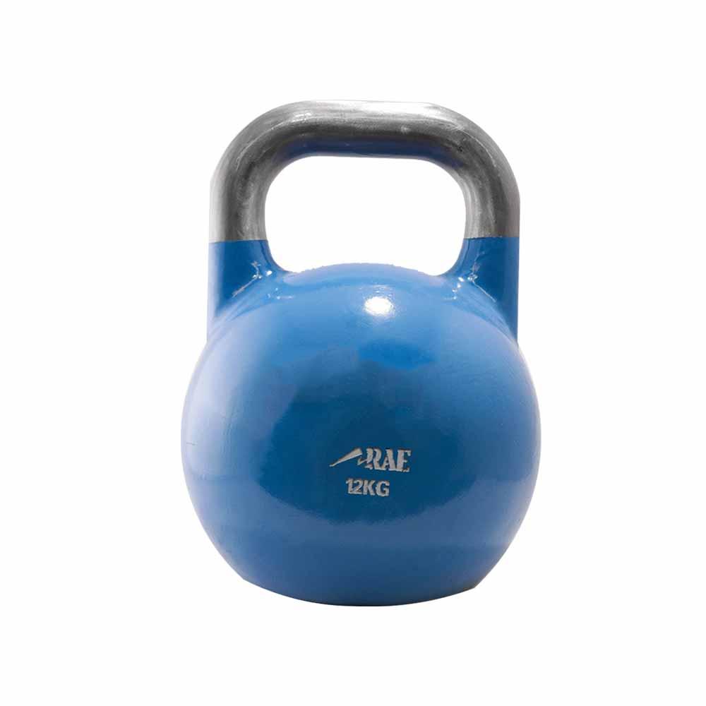 Kettlebell de Competição de Ferro Colorido para Treinamento Funcional 12 kg - Rae Fitness
