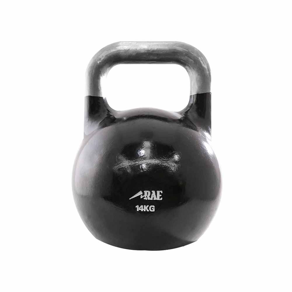 Kettlebell de Competição de Ferro Colorido para Treinamento Funcional 14 kg - Rae Fitness